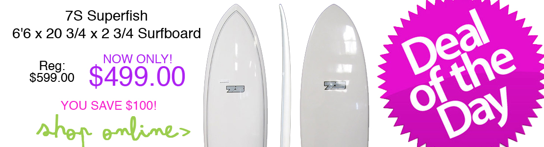 7S Superfish 6'6 x 20 3/4 x 2 3/4 Surfboard