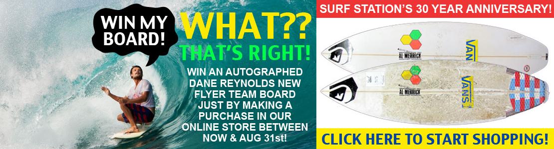 Dane Reynolds Surfboard Giveaway