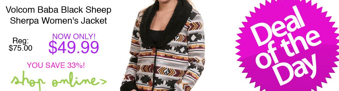 Volcom Baba Black Sheep Sherpa Women's Jacket