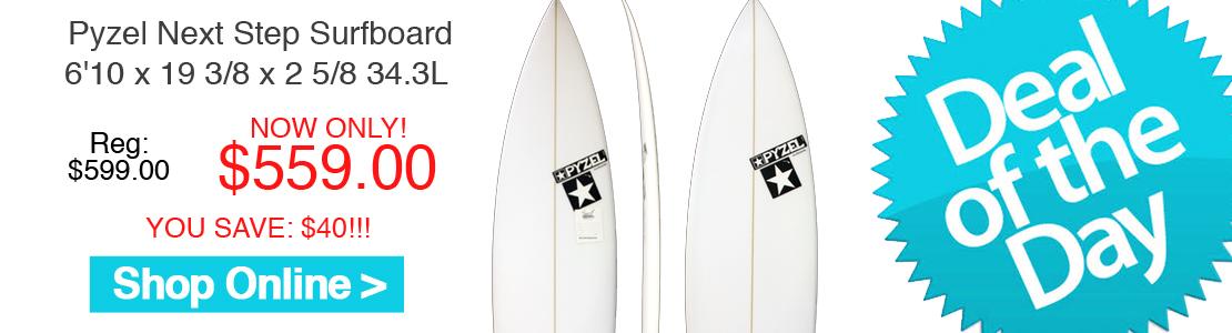 Pyzel Next Step 6'10 x 19 3/8 x 2 5/8 34.3L Surfboard