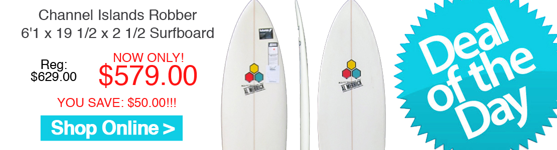 Channel Islands Robber 6'1 x 19 1/2 x 2 1/2 Surfboard
