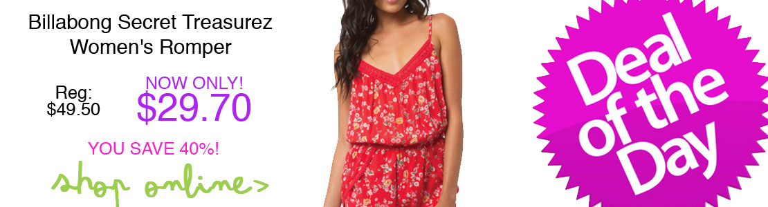 Billabong Secret Treasurez Women's Romper