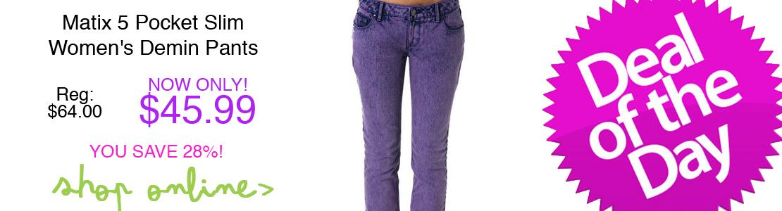 Matix 5 Pocket Slim Women's Demin Pants