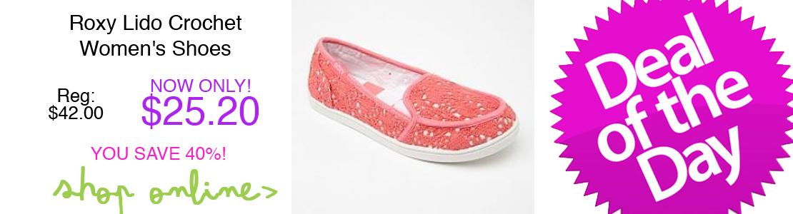 Roxy Lido Crochet Women's Shoes