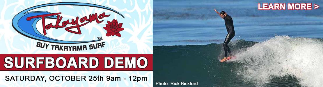 Guy Takayama Surfboard Demo