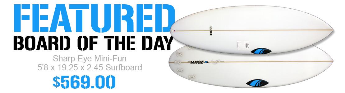 Sharp Eye Mini-Fun 5'8 x 19.25 x 2.45 Surfboard