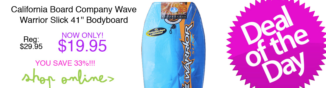 California Board Company Wave Warrior Slick 41'' Bodyboard - Blue
