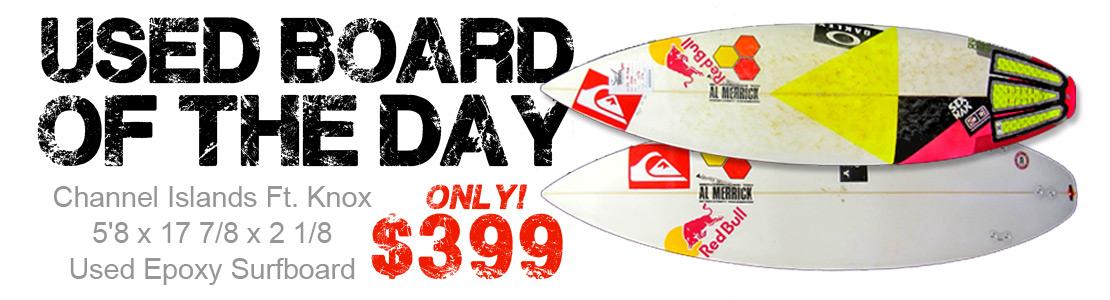 Channel Islands Ft. Knox 5'8 x 17 7/8 x 2 1/8 Used Epoxy Surfboard
