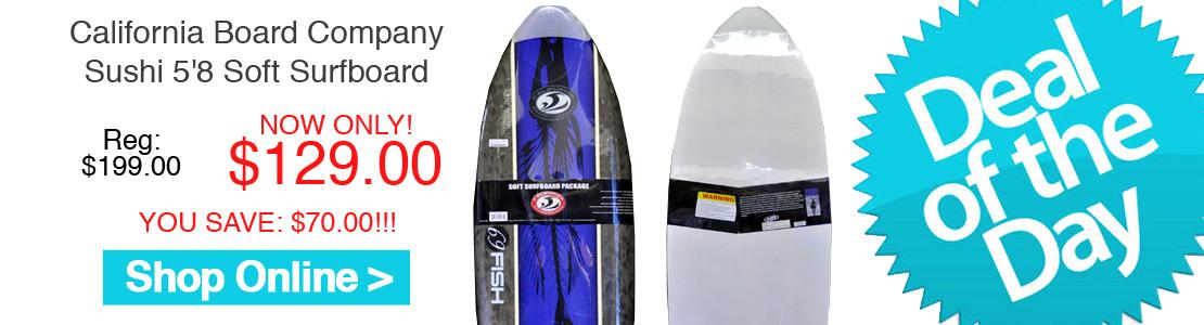 California Board Company Sushi 5'8 Soft Surfboard