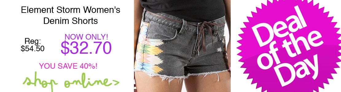 Element Storm Women's Denim Shorts