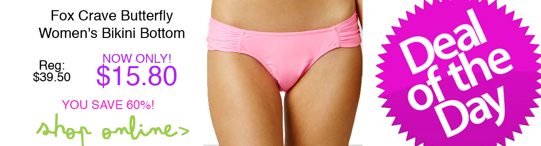 Fox Crave Butterfly Women's Bikini Bottom