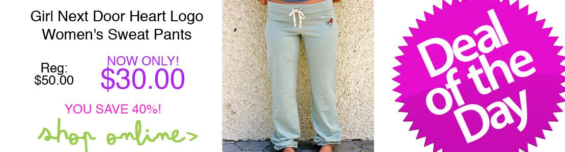 Girl Next Door Heart Logo Women's Sweat Pants