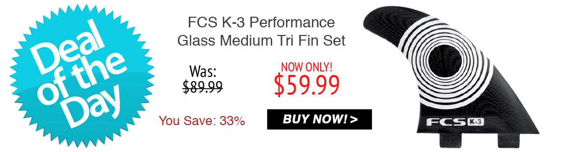 FCS K-3 Performance Glass Medium Tri Fin Set