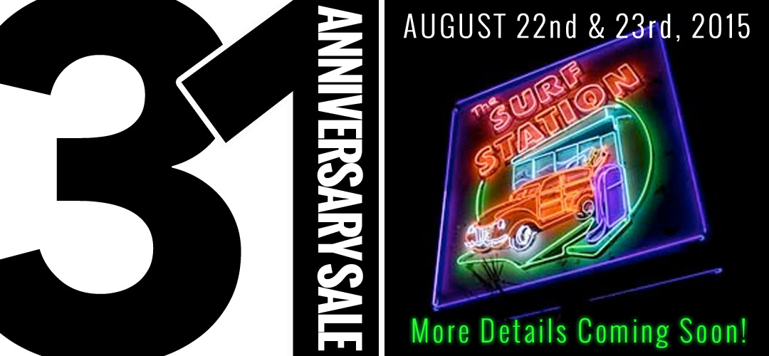 31 Year Anniversary Sale